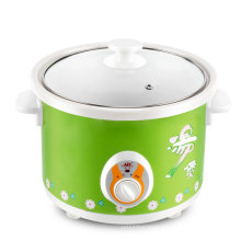 Digital Timer Control electric slow cooker white ceramic electric slow cookware