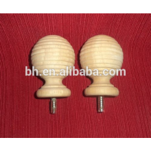 Curtains Wood Rods,Natural Wood Rod,Threaded Wood Rod