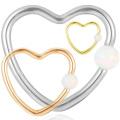 Beliebte Titan Synthetische Opal Herzform Daith Nase Hoop Ring Piercing