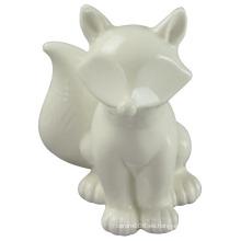 Animal Shapedceramic Craft, de pie el perro con esmalte blanco