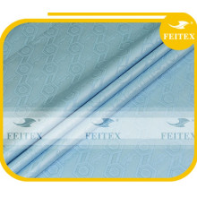 Sky blue fabric african garment material guinea brocade 100%cotton fabric