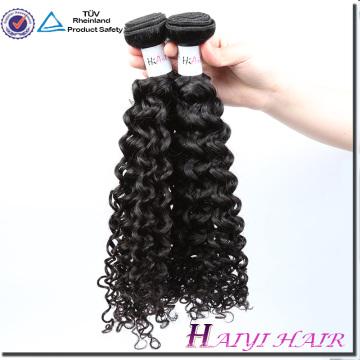Trame de machine de cheveux de vison de vison de cheveux malaisiens aucune couleur naturelle crépue bouclée de Kinky