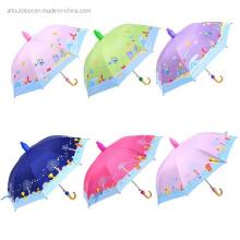 Kids Umbrella Cartoon with Anti-Drip Plastic Cover Child Plastic Small Umbrella
