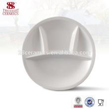 Porcelain turkish dinnerware ceramic 4 section dinner plate