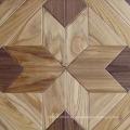 Suelo de parquet de madera de castaño color natural