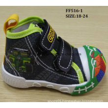 Latest Lovely Injection Shoes Baby Canvas Shoes Infant Shoes (FF516-1)