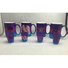 Tasse de couleur de pulvérisation, tasse de couleur arc-en-ciel, ensemble de tasses promotionnelles