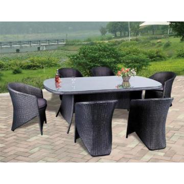 Garten Rattan Bistro Restaurants Stuhl Ovaler Tisch