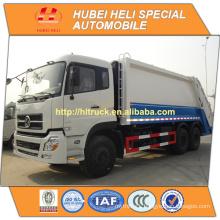 DONGFENG DFL 6x4 20 m3 heavy duty rear loading garbage truck C260 33 260hp
