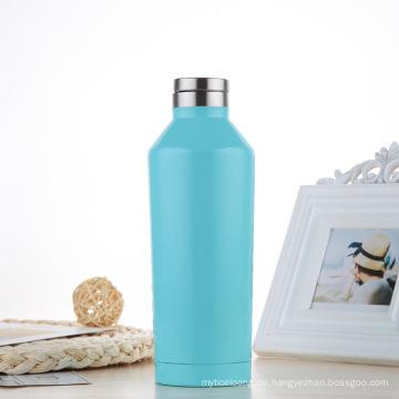 Einfache moderne Wide Mouth Vacuum Edelstahl Wasserflasche