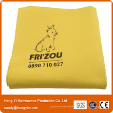 Viscose and Polyester Needle Punched Nonwoven Fabric Pet Towel