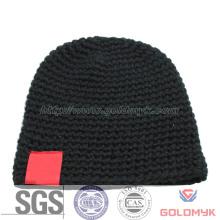 Black Beanie with Patch (GKA0401-F00031)