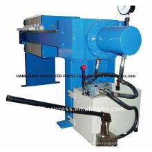 -Elektrische manuelle hydraulische kleine Kammer-Filter-Presse, manuelle Filter-Presse-Platten-Verschiebung