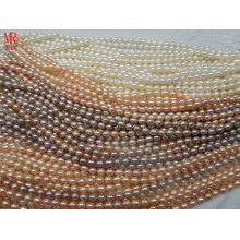 7-8mm AA Grade Rice Shape Cultured Pearl Strands