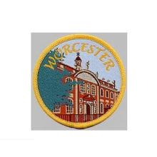 Crachá tecido do remendo redondo do bordado da opinião da cidade (GZHY-PATCH-003)