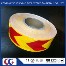 Pet High Visibility Yellow and Red Arrow Reflective Material Tape