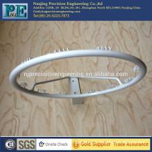 white powder coated steel rolling bending and welding fabrication bracket