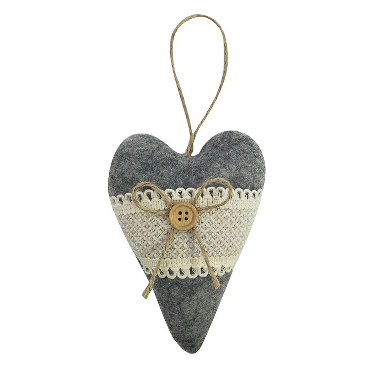 Winter Woodland Style Christmas Heart Ornaments