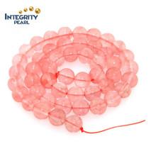 Fabrication de bijoux Accessoires de bracelet Taille de quartz naturel 6 8 10 12 Chaîne de perles de cristal de pastèque