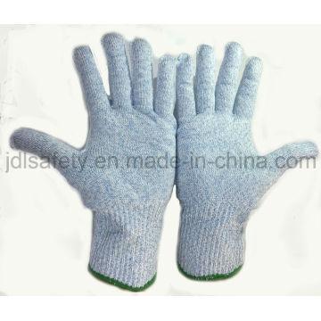 Contacto con los alimentos corte guantes de trabajo resistente (D5202)