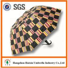 Prix pas chers! Parapluie pliant de style populaire 2 approvisionnement en usine pour promotionnel avec poignée Crooked