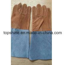Промышленная безопасность Скрытая кожаные рабочие рабочие сварочные рабочие перчатки