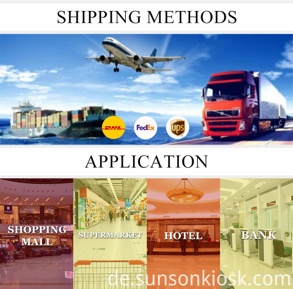 shipping and product application