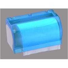 Hotel Publicl Toilet Bluetranslucent Dispensador de papel de seda de plástico redondo montado en la pared