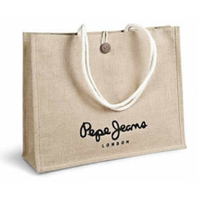 Shopping Bag of Jute Canvas with Handle