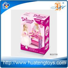 2014 Новый предмет Пластмассовая детская комод игрушка, Комод для макияжа с зеркалом для девочки H121735