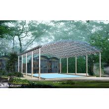 Toit préfabriqué de cadre d'espace de piscine de grande envergure de construction d'envergure
