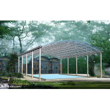 Large Span Construction Prefab Swimming Pool Space Frame Roof