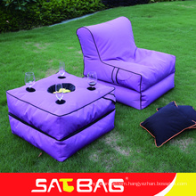 New style outdoor fabric teapoy bean bag