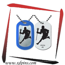 2014 Hot Sell Custom Metal Military Dog Tag with Rubber