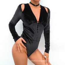 Deep V-neck Slimming Bodysuits Top For Women Custom