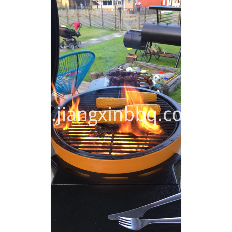 cooking kamado grill