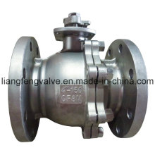 Full Bore Flange End 2 PC Ball Valve with Stainless Steel
