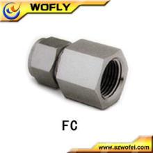 AFK Conector fêmea de aço inoxidável intercambiável com Swagelok Acessórios para tubos