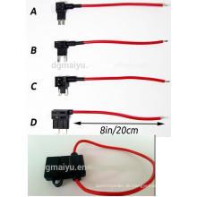 Fügen Sie einen Stromkreis Sicherung Tap Piggy-Back Standard Blade Sicherungshalter ATO Atc 12V 24V