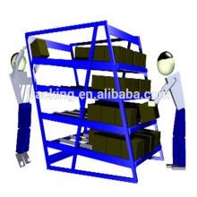 Estantes de balanceo industriales, estante del fifo del flujo del cartón del engranaje de almacenamiento de la carga larga