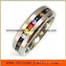 Modeschmuck mit Multi Farben Steine Finger Ring