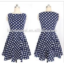 Sommer Mode Designer Damen gerade Kleid Frauen Polka Dot volle Hülse Knie-Länge gerade Dresse für Büro