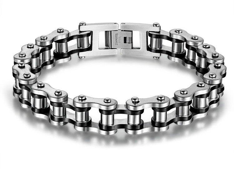 mens bike chain bracelet