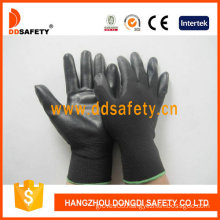Black Nylon with Black PU Glove-Dpu117