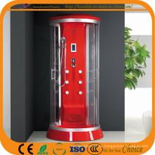 Plato de ducha redonda de lujo rojo ABS (ADL-867)