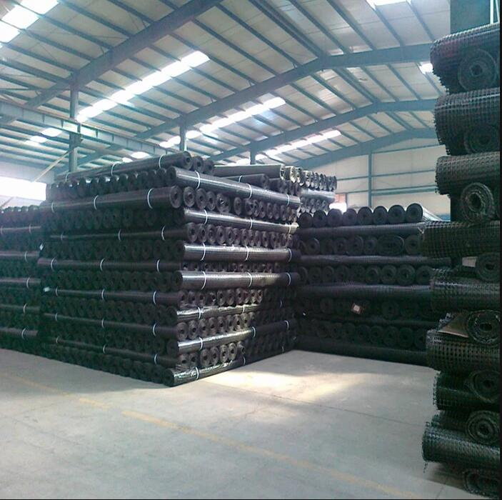 geogrid packed