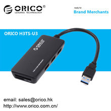 2014 Hotsell ORICO H3TS-U3 3-Port multifuncional USB3.0 Hub com leitor de cartão