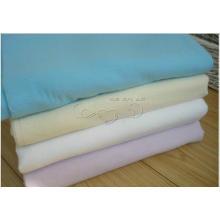 Tejido teñido sólido de la tela de la franela del algodón / paño automático de la limpieza