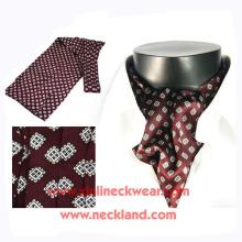 Mens New Neckwear Atacado Silk Impresso Ascot Tie Cravat