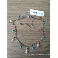Bohemia azul perlas y tobilleras de oro Shell Beach